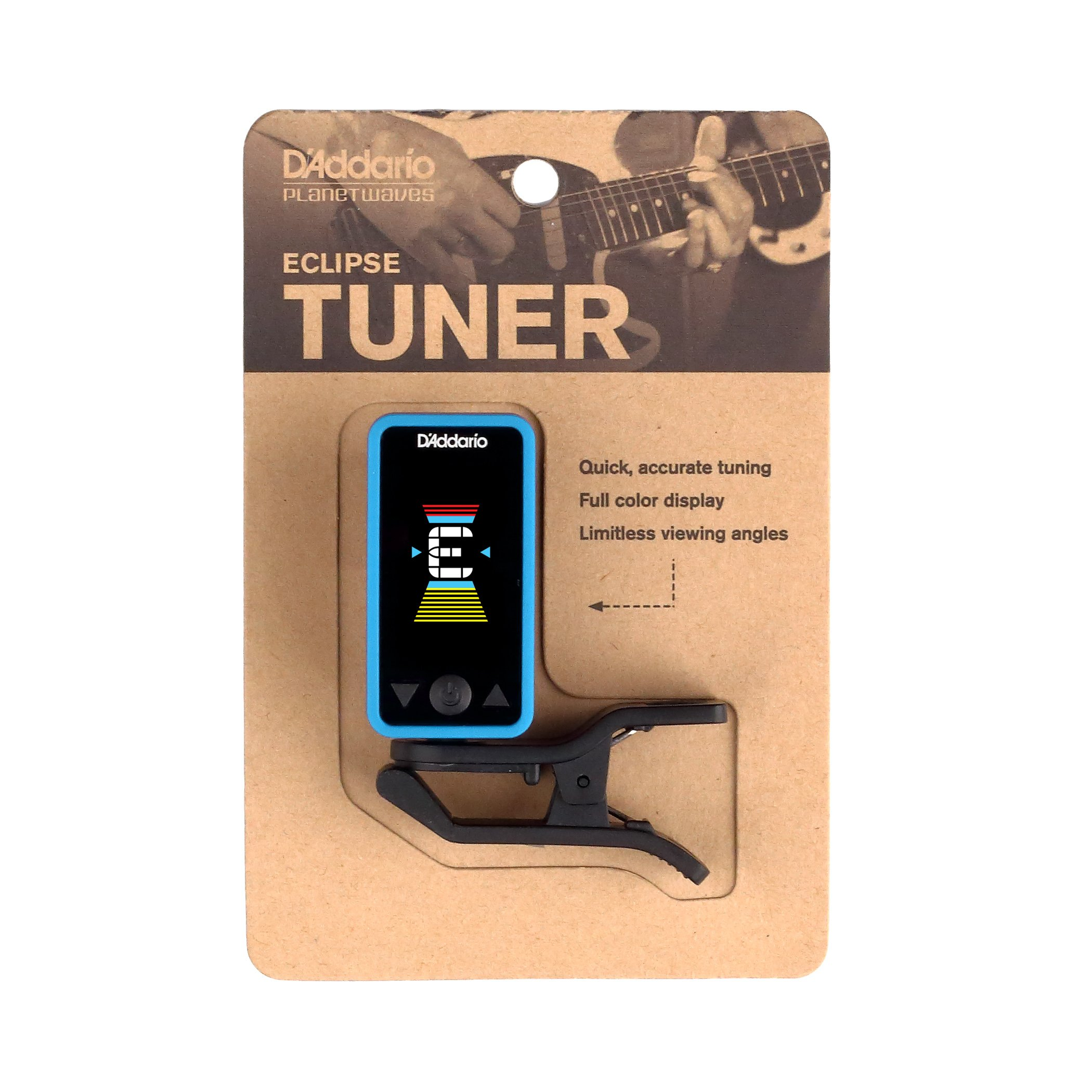 D'Addario Accessories Eclipse Headstock Tuner, Blue by Planet Waves (Image #5)