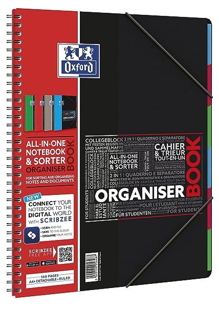 Oxford 400037404 Cuaderno espiral digitales Organiserbook con SOS ...