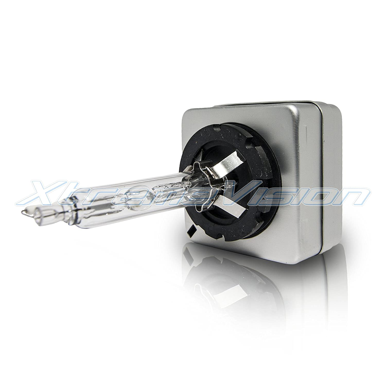 XtremeVision HID Xenon Replacement Bulbs 1 Pair D2S // D2R // D2C - 2 Year Warranty 10000K Dark Blue