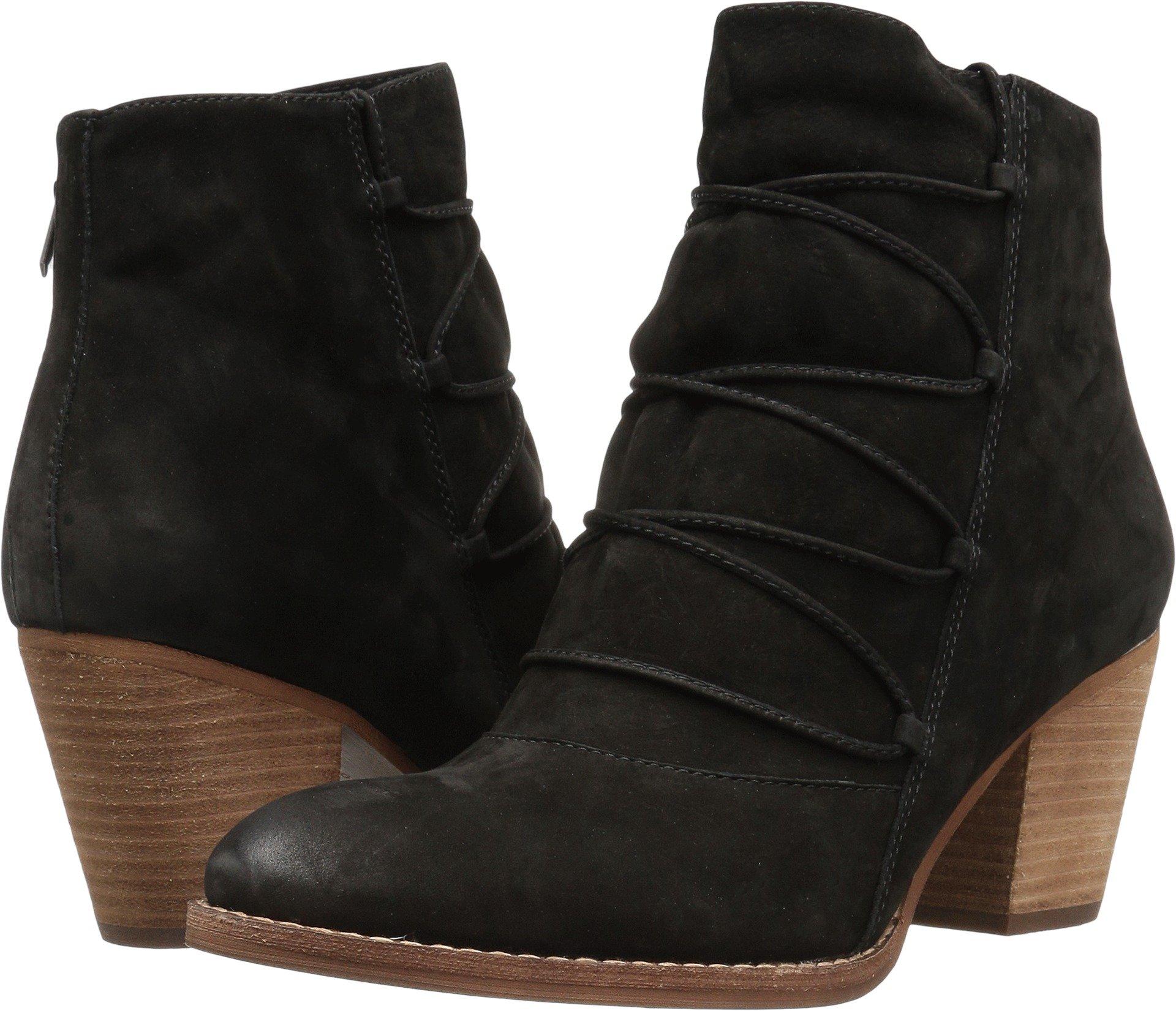 Sam Edelman Women's Millard Ankle Boot, Black Leather, 8 Medium US