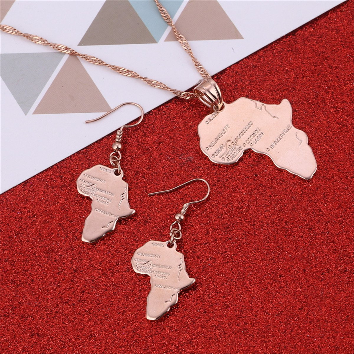0f8b5138c98 Jewelry Ltd P-00032 BR Gold Jewelry Big Size Crystal Africa Map Pendant Necklace  Women Girl ...