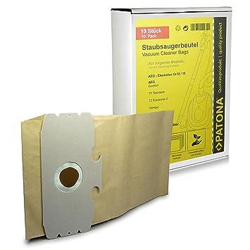 10x Bolsas de aspiradora papel para AEG Dimensión / Type 12 - AEG Comfort 1100 Electronic, Comfort Electronic Gs, Comfort Electronic Ti | GR12, GR15 | ...