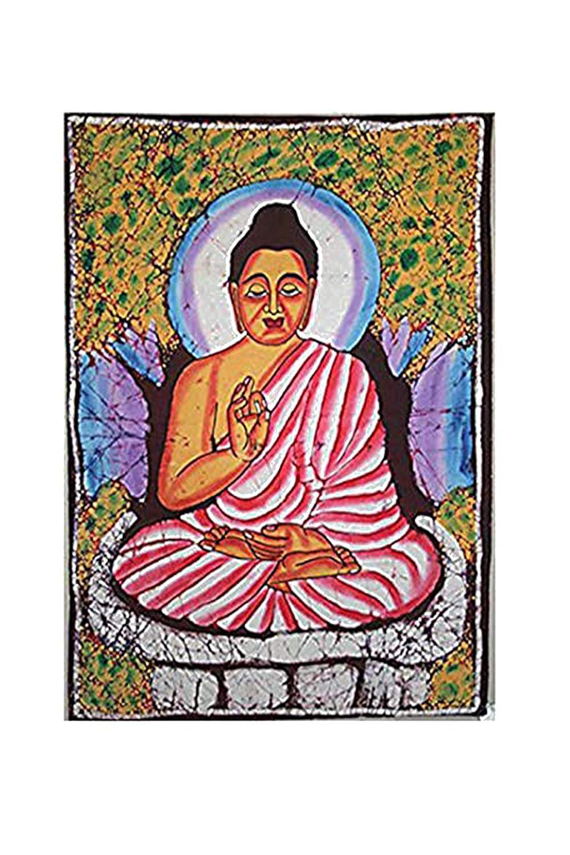 Agan Traders Batik Buddha Tapestry Wall Hanging
