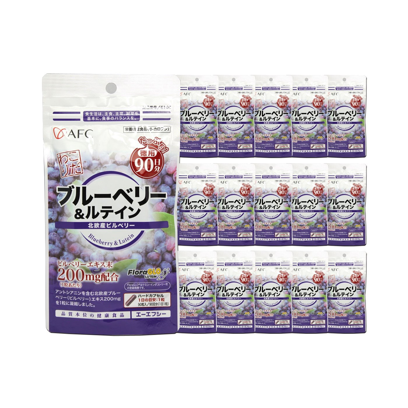 AFC Blueberry + lutein for 4 years (90 days series * 16 sets)