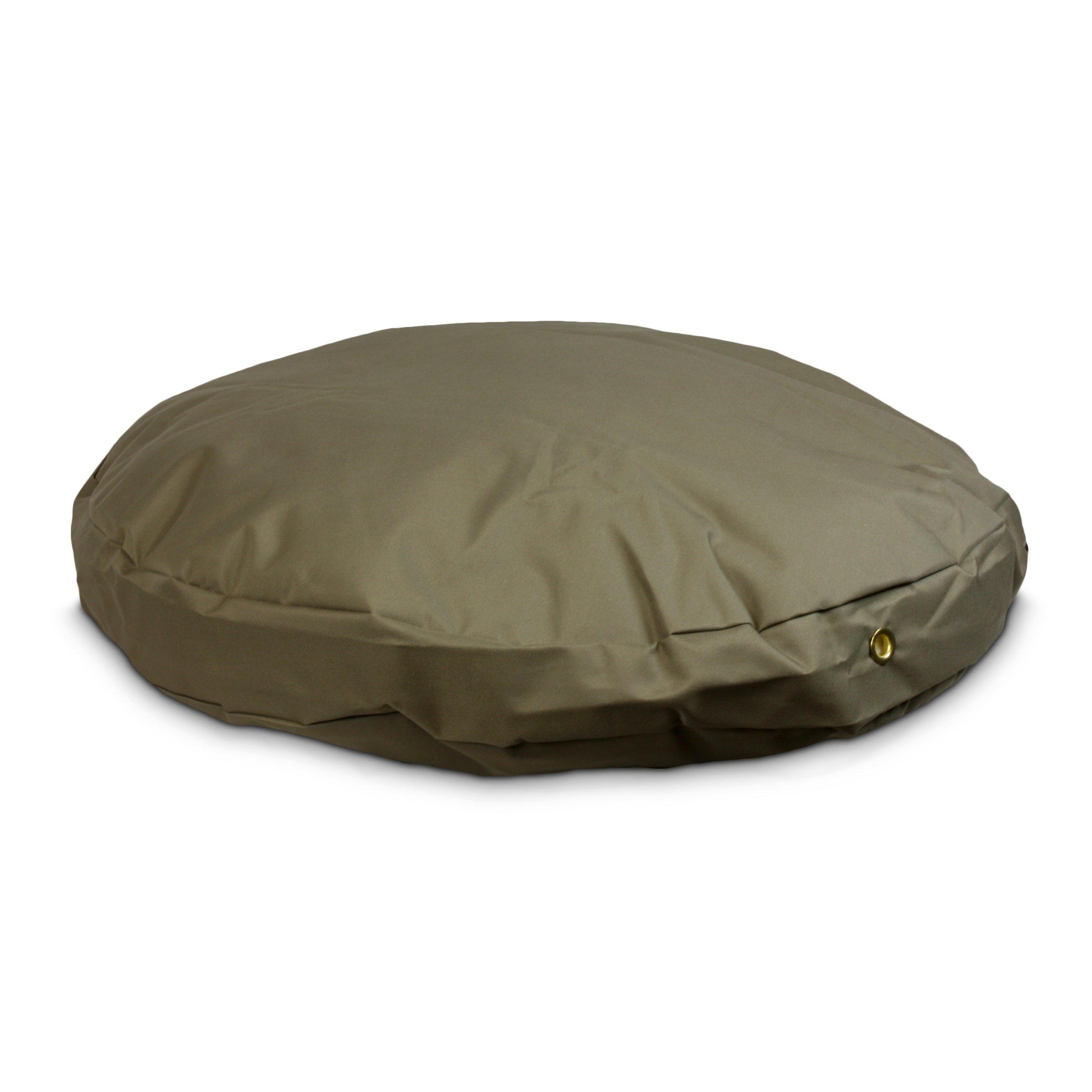 Snoozer Waterproof Round Pet Bed, Large, Hazelnut, 48-Inch