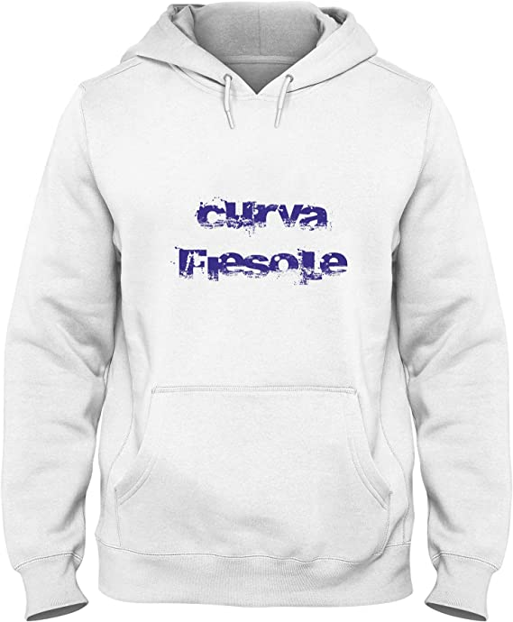 T-Shirtshock Felpa Cappuccio Uomo Bianca TUM00097 Fiorentina Curva ...