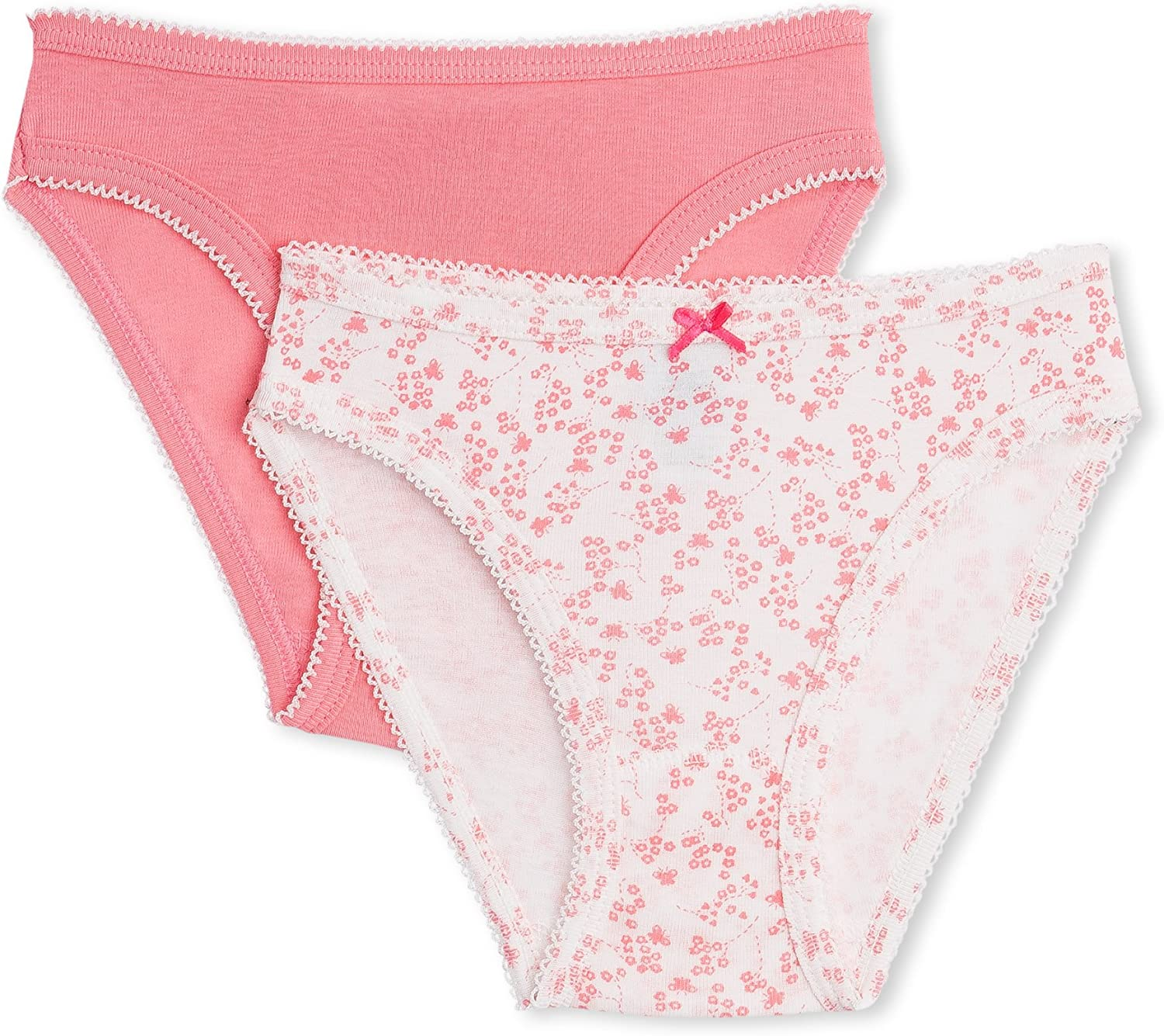 Pink//Aqua-5 Years Petit Bateau 3 Pack Underwear Toddler//Kid