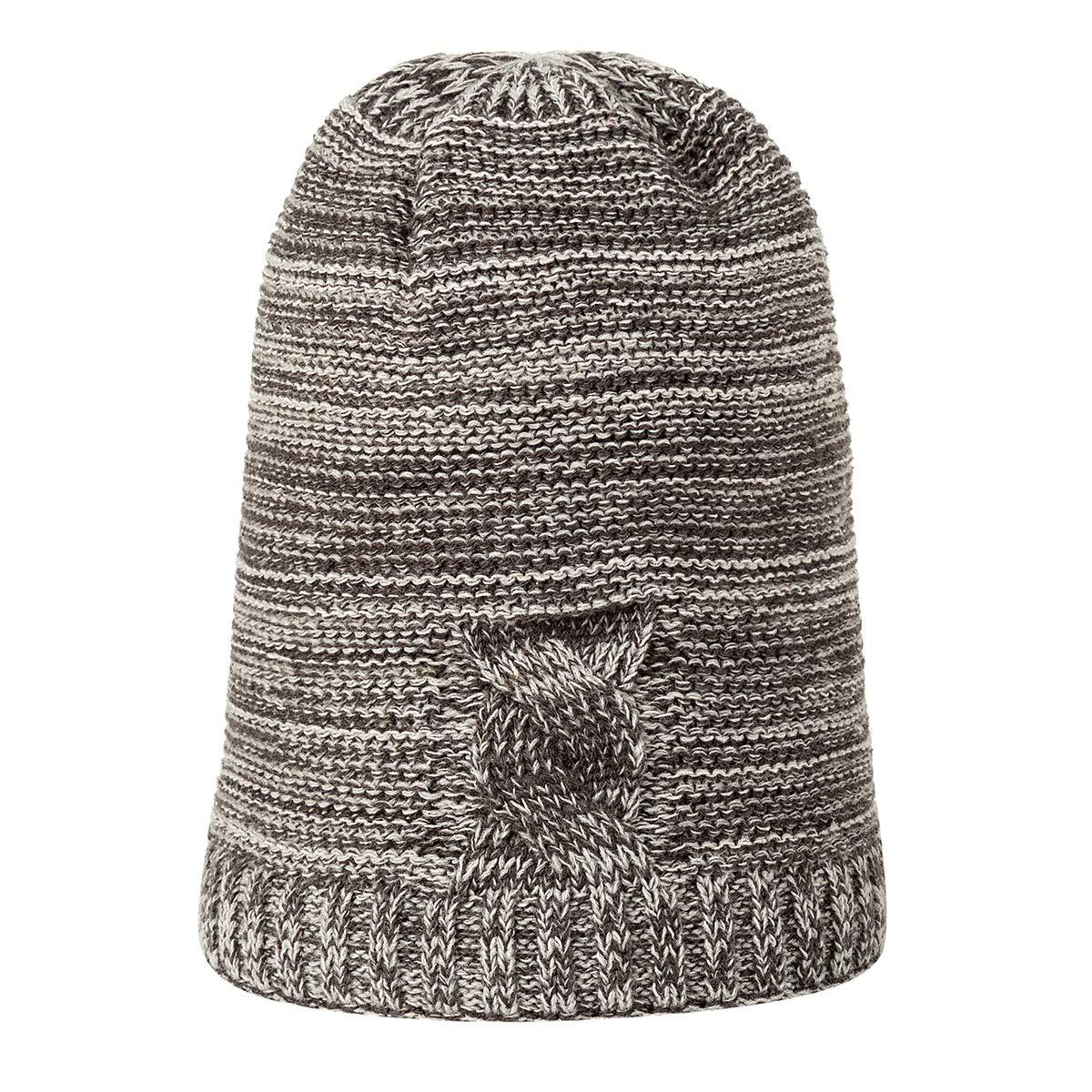 a24d2b1d358923 ... Grey KAISHIN New Mens Fine Knit Hat Winter Winter Winter Outdoor Cap  Fleece Lined Beanie Hat