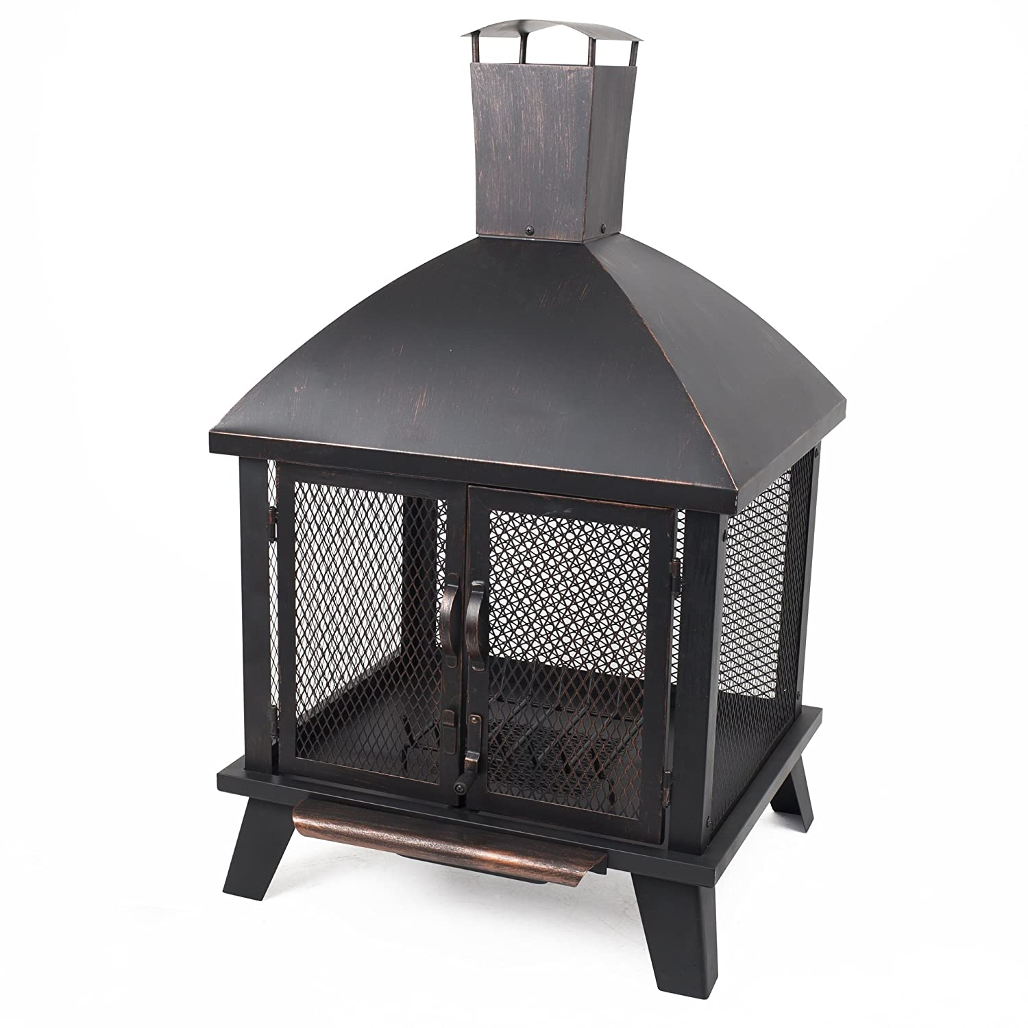 Pleasant Hearth OFW577HC Stratford House Wood Burning Fire Pit