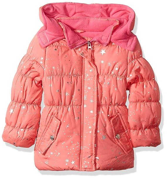 099cec7d7 Amazon.com  Pink Platinum Girls  Super Star Foil Puffer  Clothing