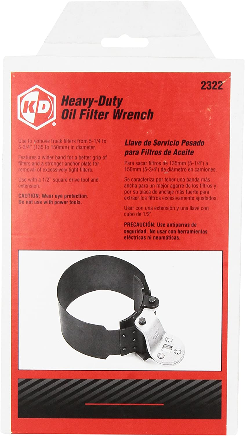 GearWrench 2322D Heavy Duty Oil Filter Wrench 5-1//4 to 5-3//4