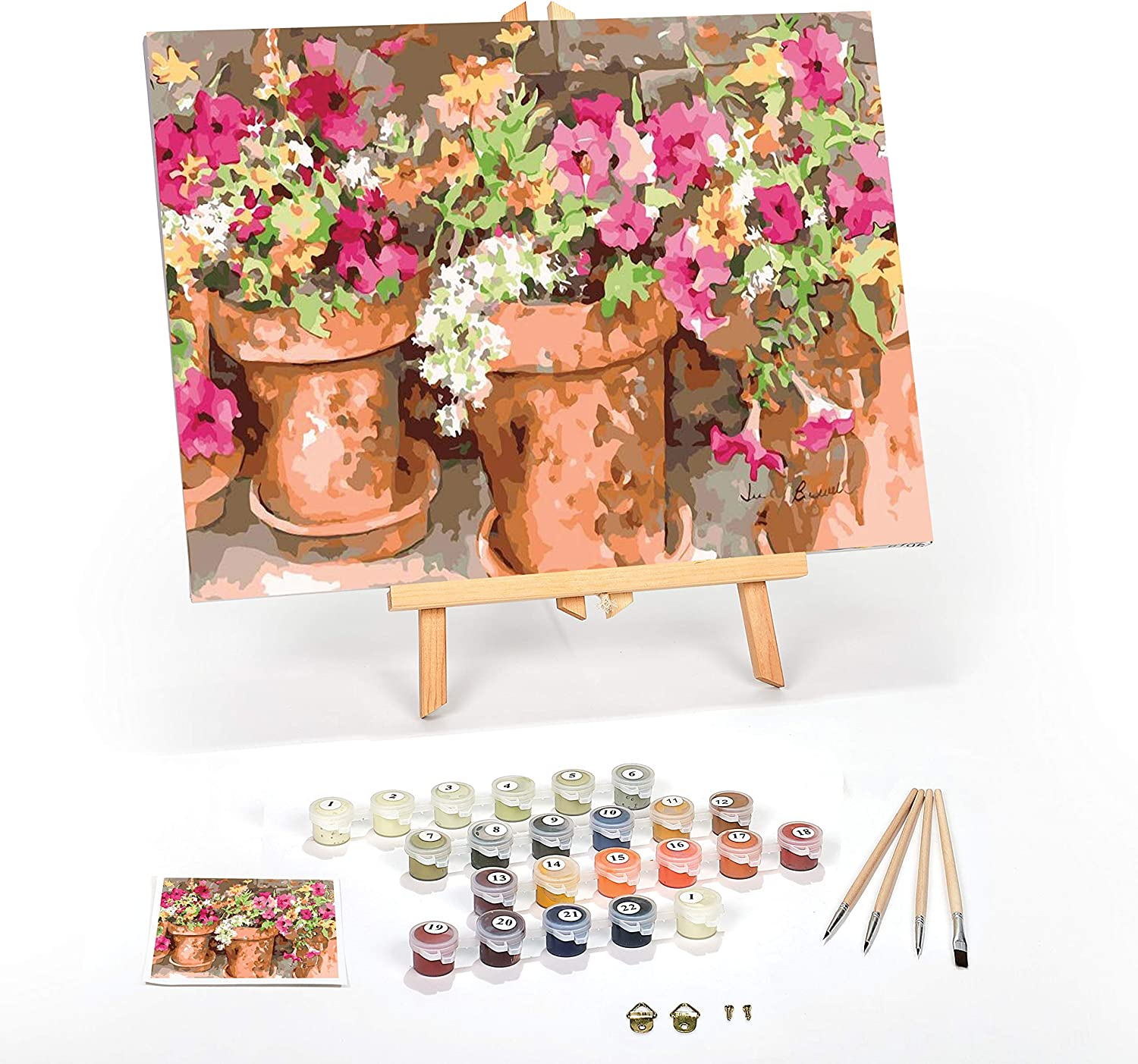 1X Paint By Numbers Kits for Adult,DIY Canvas Painting for Adults Beginner F8Y0
