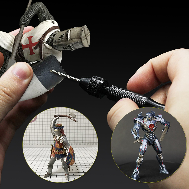 Pin Vise Hand Drill Bits(20PCS), Micro Mini Twist Drill Bits Set with Precision Hand Pin Vise Rotary Tools for Wood, Jewelry, Plastic etc (0.6-3.0mm) by Werkzeug (Image #4)