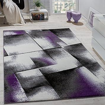 Lieblich Paco Home Designer Teppich Wohnzimmer Teppiche Kurzflor Meliert Lila Grau  Schwarz Creme, Grösse:120x170