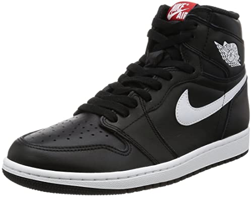 04223cf0fc242b Nike Jordan Kids Air Jordan 1 Retro High OG Bg Black White Black Unvrsty Red