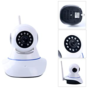 YaeKoo HD 720p Indoor Wireless IP Security Camera with Night Vision & P2P Network Play/Plug &Pan/Tilt, Baby Monitor Nanny Cam Video Recording, Two-way audio TF Card Slot Motion Detection