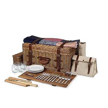 Amazon.com: Tiempo Charleston Premium cesta de picnic con ...