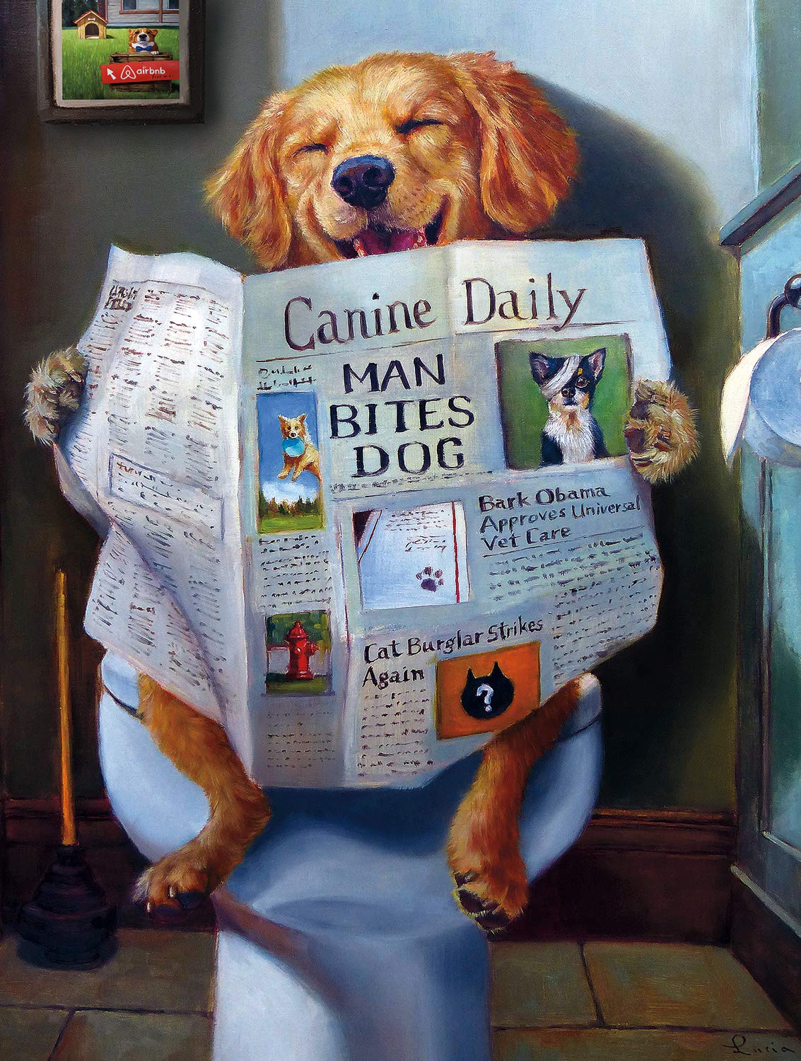 Buffalo Games - A Dog's Life - Dog Gone Funny - 750 Piece Jigsaw Puzzle by Buffalo Games