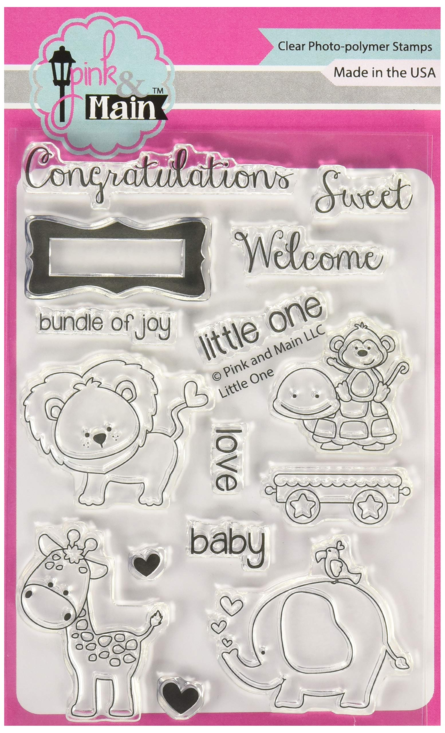 Pink & Main PM0057 Clear Stamps 4''X6''-Little One by Pink & Main