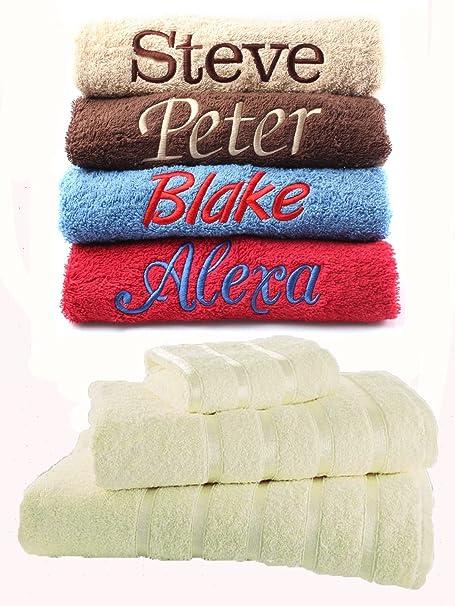 Juego de toallas bordadas personalizadas, ideal para regalo. Ponga cualquier nombre | Toalla de cara |