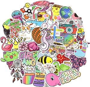 Waterproof Trendy VSCO Stickers Bomb Water Bottle Folders for Teen Girls (100Pcs/Pack)