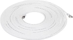 AmazonBasics RJ45 Cat 7 High-Speed Gigabit Ethernet Patch Internet Cable - White, 30 Foot