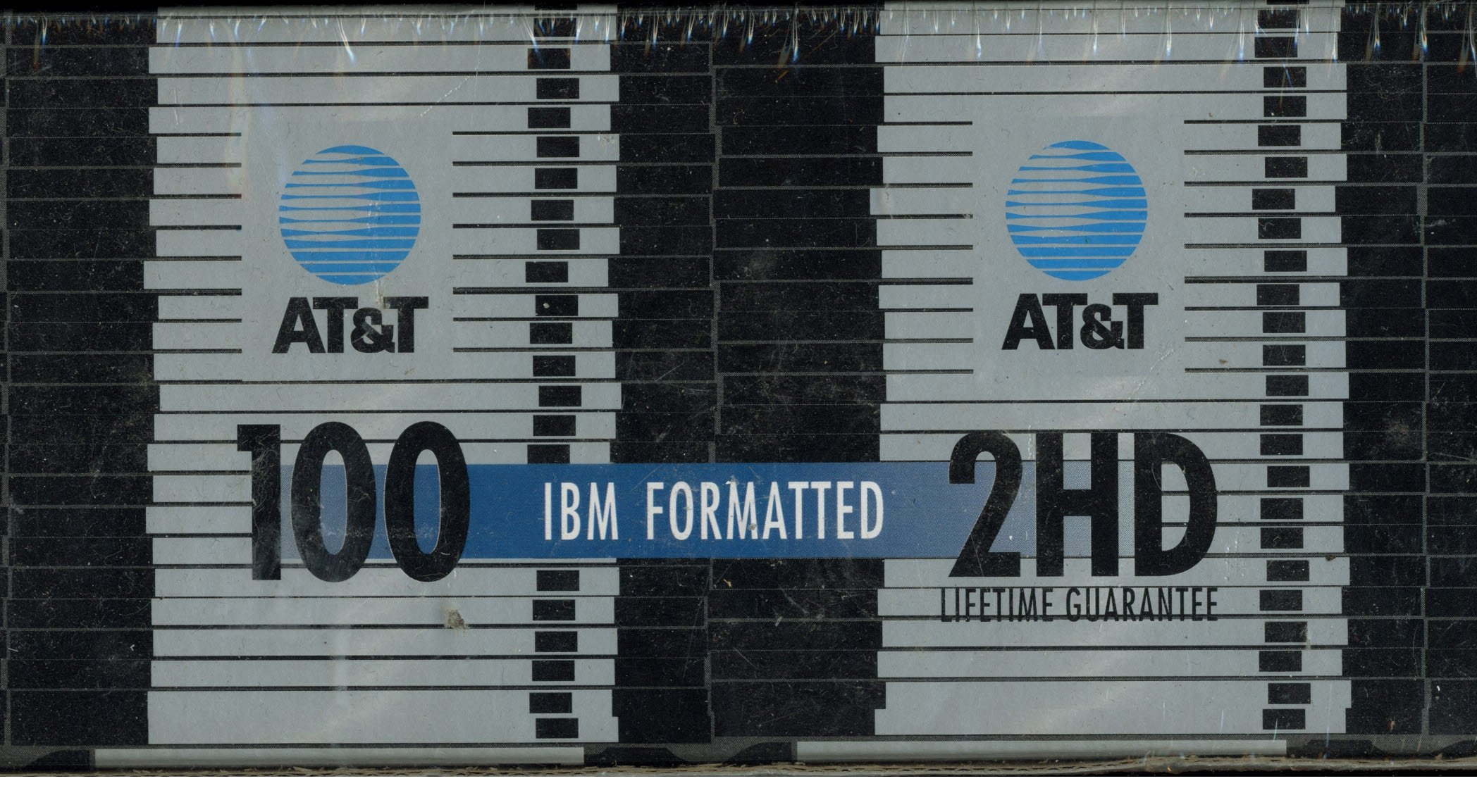 AT&T IBM Formatted 3.5 Inch DS/HD Floppy Diskettes 100 Pack 2HD by AT&T