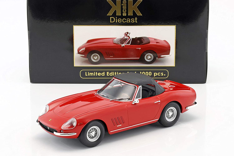 KK-Scale KK-Scale KK-Scale Ferrari 275 GTB4 Nart Spyder mit Speichenfelgen Baujahr 1967 rot 1:18 c60a1e