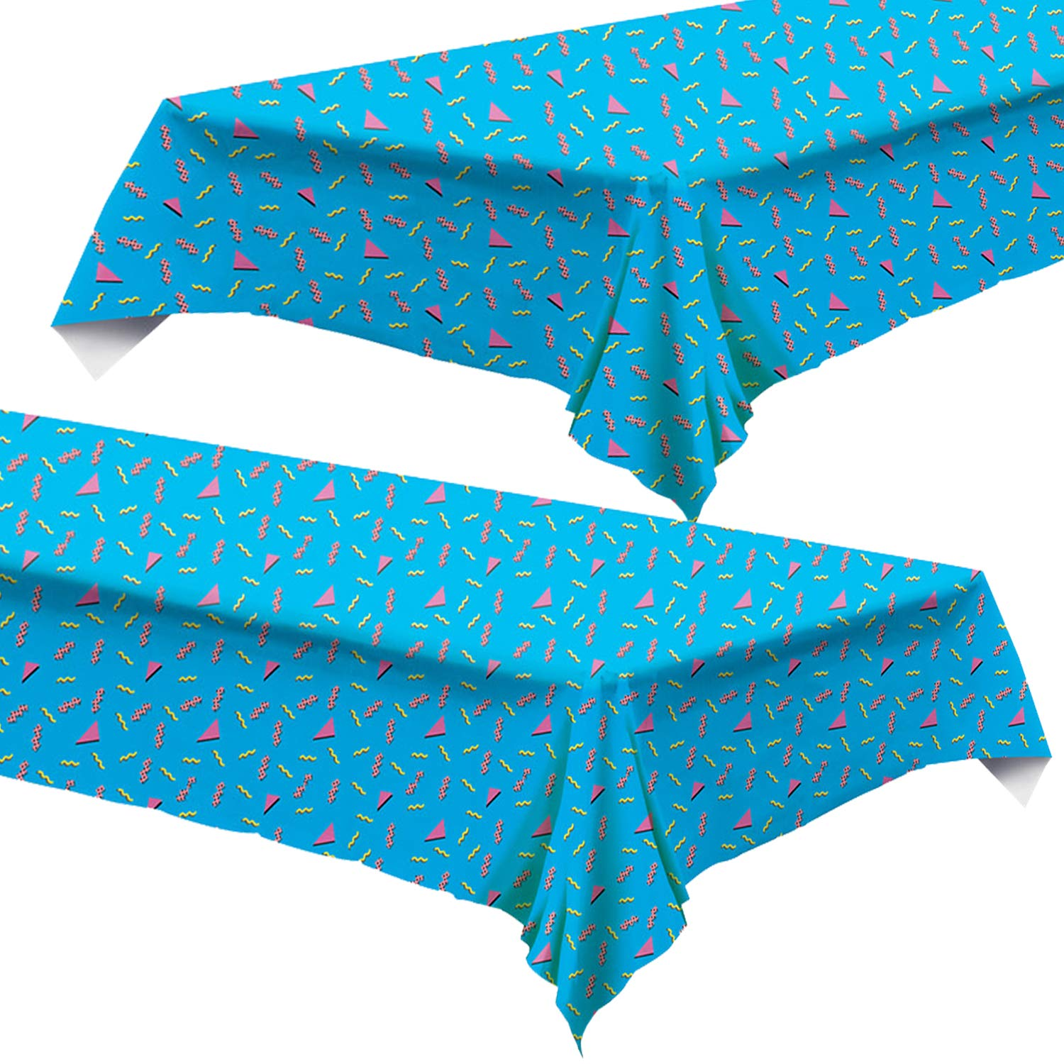 90's Party Supplies - 90's Themed Tablecloth 54'' x 108'' (2 Pack) by Live It Up! Party Supplies