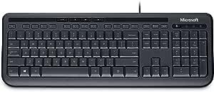 Microsoft ANB-00025 Wired Kbrd 600 USB Port Eng Intl Row Hdwr Black
