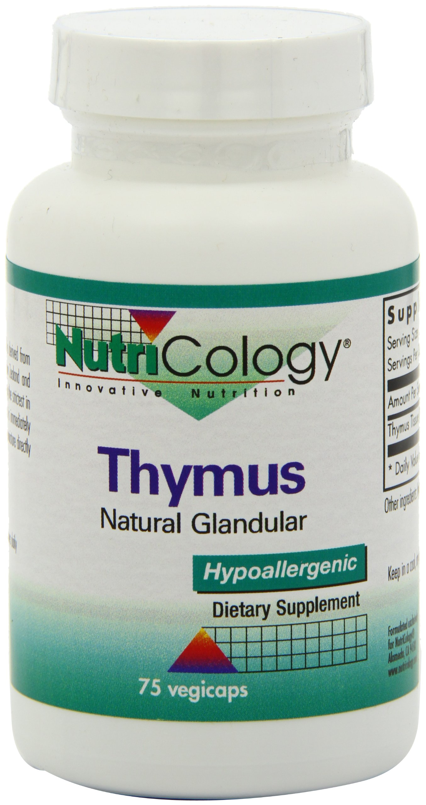 Nutricology Thymus, Vegicaps, 75-Count by Nutricology