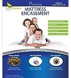 Four Seasons Essentials Twin Extra Long (XL) Mattress Protector Bedbug Waterproof Zippered Encasement Hypoallergenic…