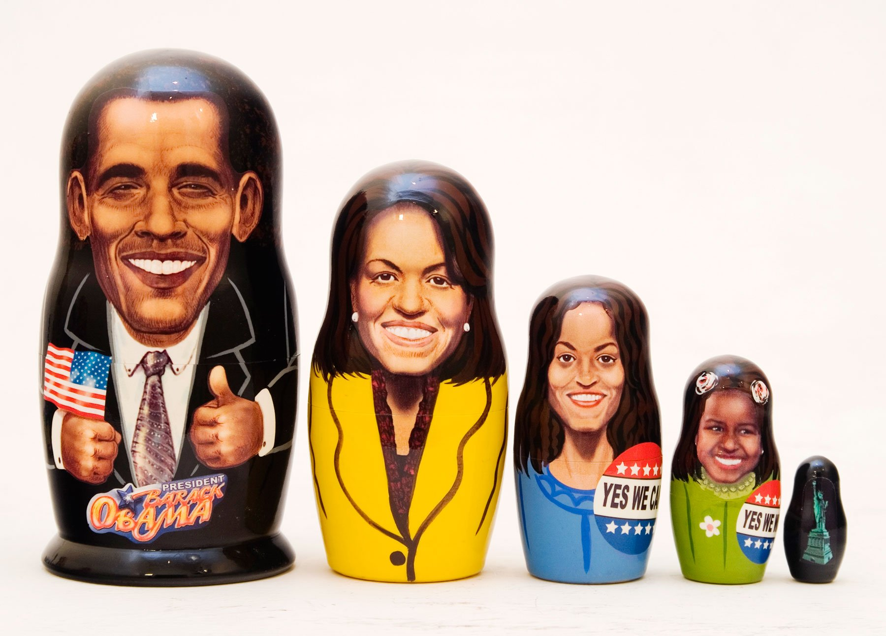 Obama Family Nesting Doll 5pc./6'' by Golden Cockerel (Image #1)