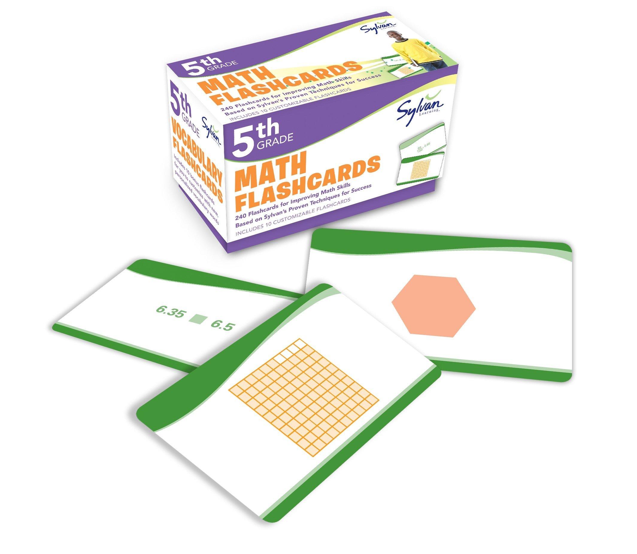 5th Grade Math Flashcards: 240 Flashcards for Improving Math Skills Based on Sylvan's Proven Techniques for Success (Sylvan Math Flashcards) pdf epub