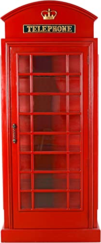 Design Toscano British Telephone Booth Display Cabinet