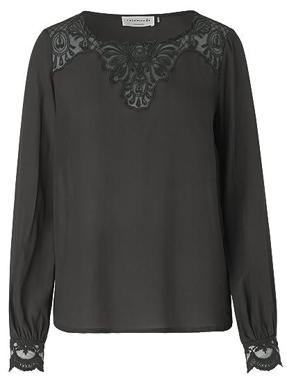 23e8a601bd8fce Rosemunde Women's Crew Neck Blouse grey Raven: Amazon.co.uk: Clothing