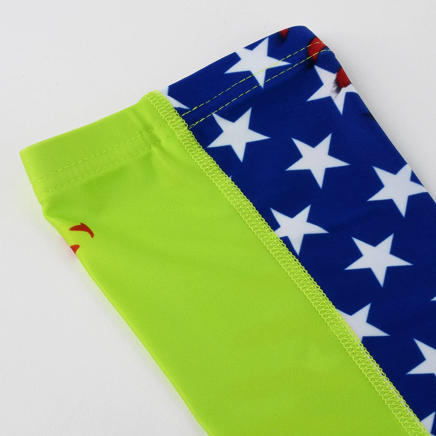 17fd98d2ee Amazon.com : Softball Lace America Flag Arm Sleeves : Sports & Outdoors
