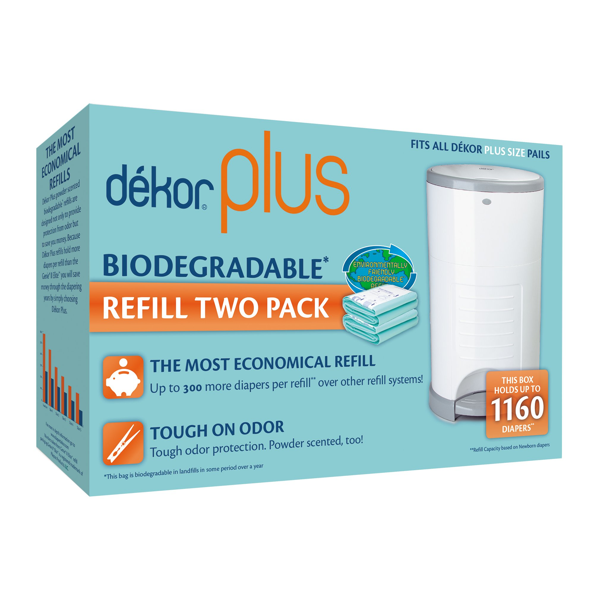Dekor diaper plus diaper disposal system baby for Dekor plus refills