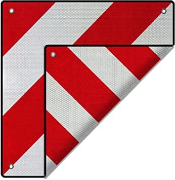 WilTec Señal Advertencia Reflectante España Italia Aluminio Rojo ...