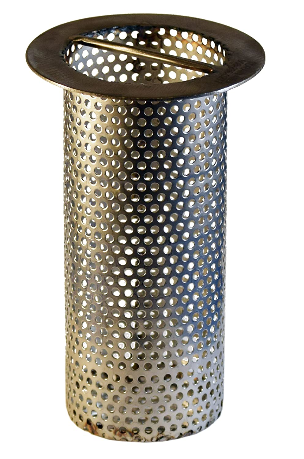 3 Commercial Floor Drain Strainer 4 tall Perforated Stainless Steel