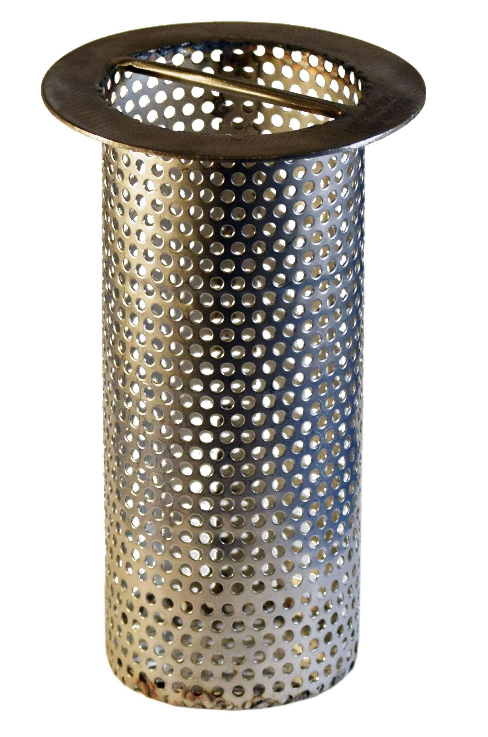 3'' Commercial Floor Drain Strainer, Perforated Stainless Steel, 6'' tall