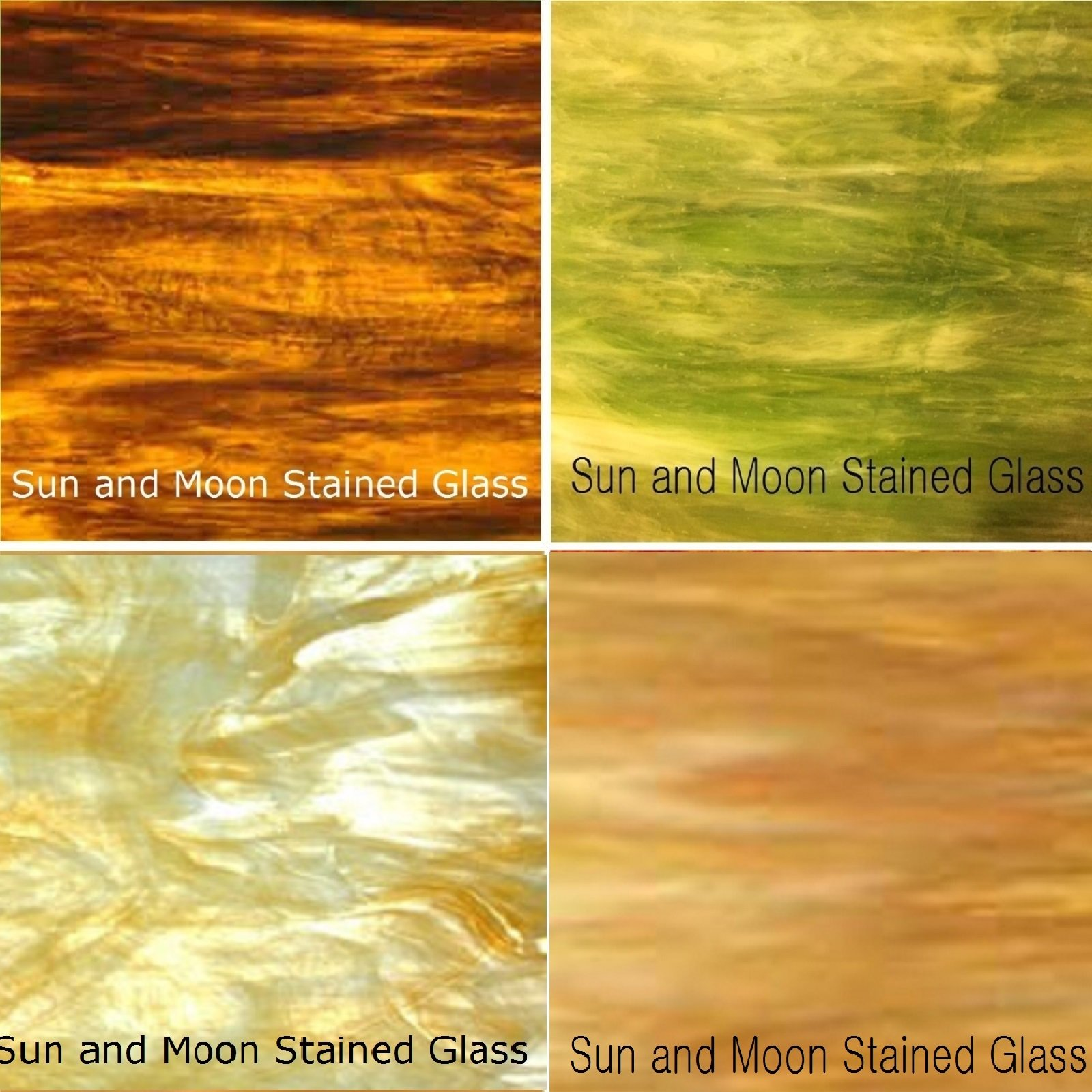 Autumn Flavor Wissmach Stained Glass Sheet Pack by Sun and Moon Stained Glass