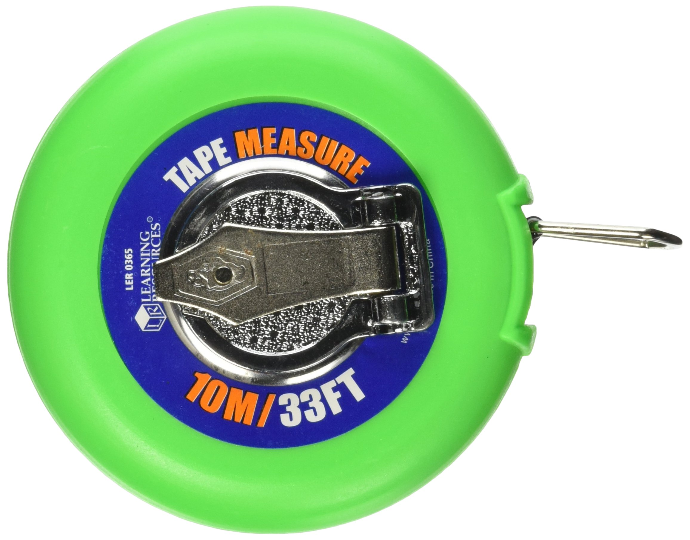 School Smart Easy Wind Up Tape Measurer with Inches and Metric - 33 foot
