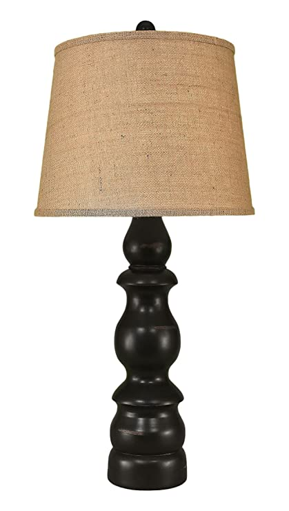 distressed table lamps living room distressed black country style table lamp amazoncom lamp home kitchen