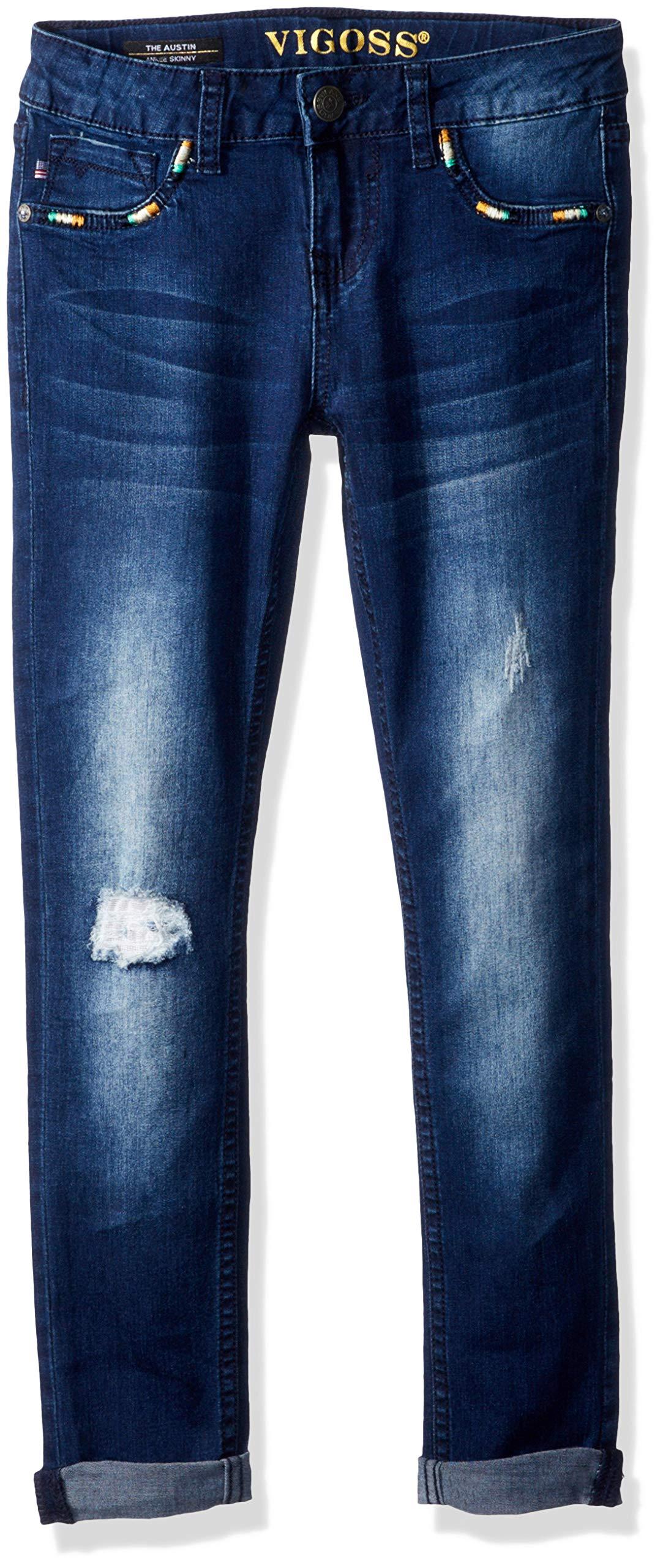 VIGOSS Girls' Big Fashion Jean, Deco Zenith, 8