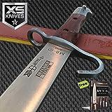 "24"" Military Bowie Hunter Full Tang M8 Carbon Steel Sharp Blade Sword Wood Handle W/Vinyl Sheath + Free eBook by SURVIVAL STEEL"