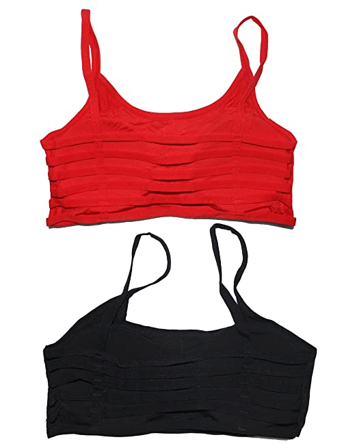 023845df008a30 Six (6) Straps Red   White Combo of Padded Bralette (removable pads)   Amazon.in  Clothing   Accessories