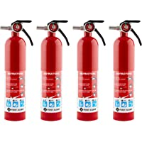 $74 » HOME1 Rechargeable Home Fire Extinguisher 4-Pack, Red | UL Rated 1-A:10-B:C | All-Metal…