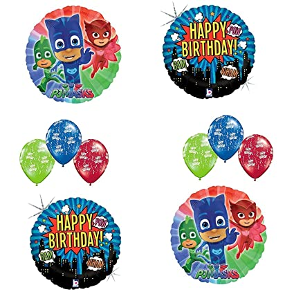 PJ Mask Happy Birthday Balloon Bouquet