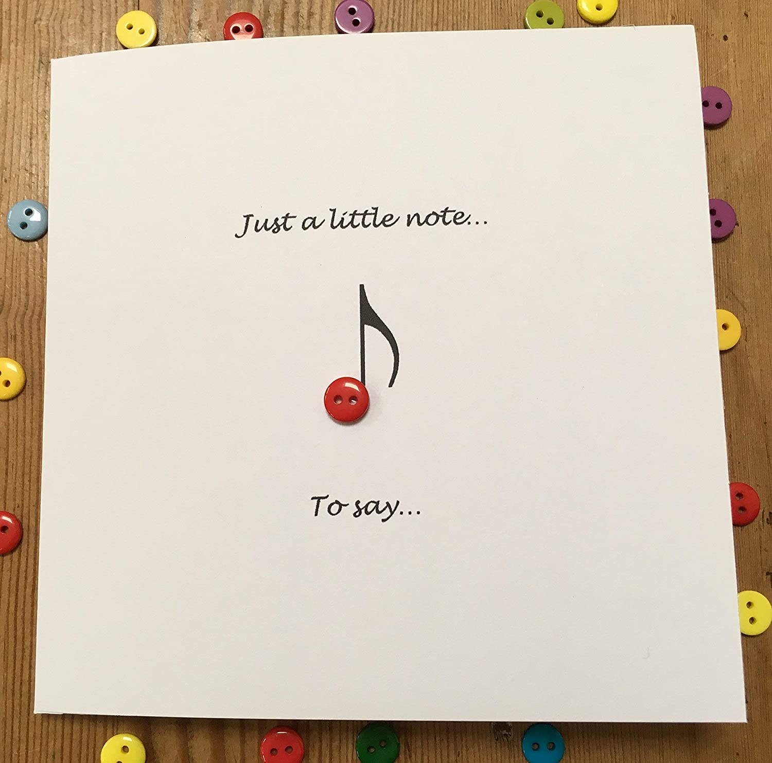 Fine Just A Little Note Blank Note Card Paper Handmade Greeting Funny Birthday Cards Online Alyptdamsfinfo